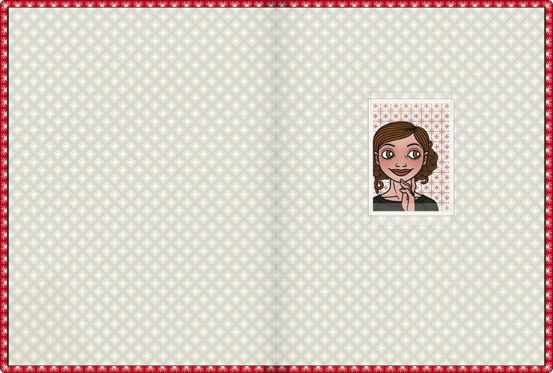 Vorsatzblatt mit Passbild im Lily Lux Notizbuch