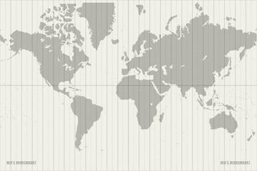 Sonderseite mit einer Weltkarte zum selber Ausdrucken und Einkleben oder Einheften ins Lily Lux Notizbuch