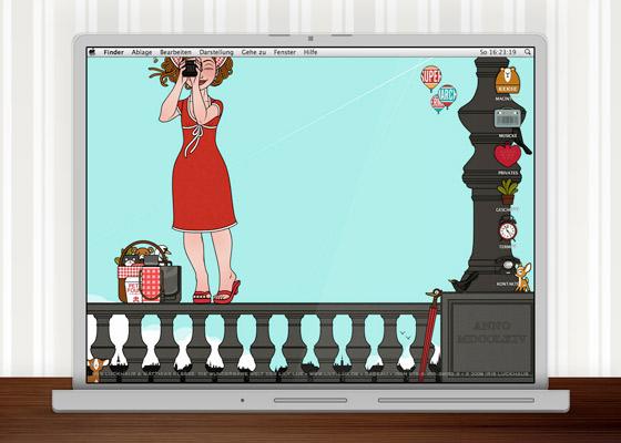 Lily Lux Wallpaper mit Kamera im Sommer