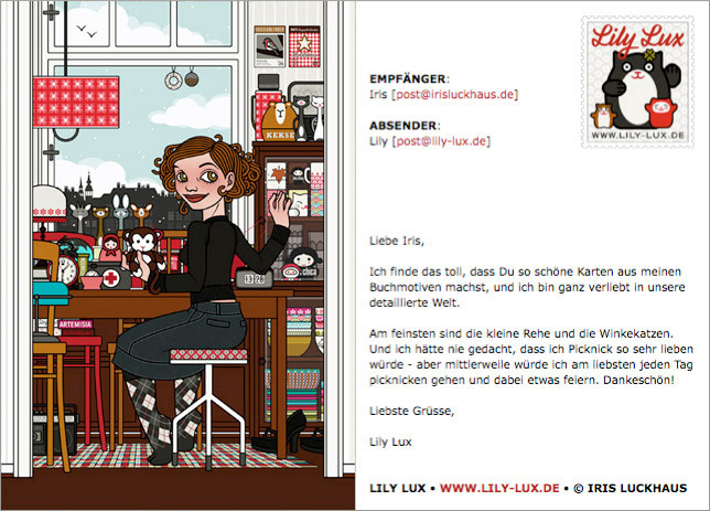 Lily Lux Elektronische Grußkarten