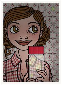 Lily Lux Passbild mit Glühwürmchen
