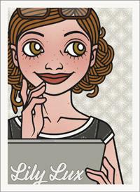Lily Lux Passbild mit Mac
