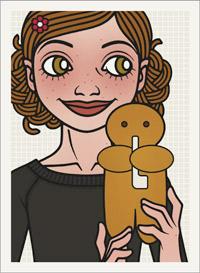 Lily Lux Passbild mit Weckmann oder Stutenkerl