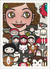 Lily Lux Passbild mit allen Figuren und Freunden