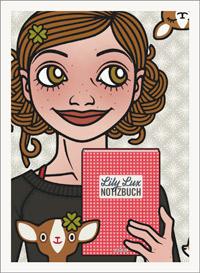 Lily Lux Passbild mit Rehen und Lily Lux Notizbuch