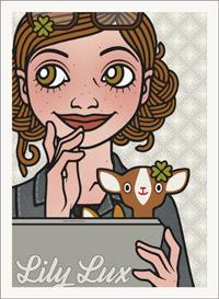 Lily Lux Passbild mit Rehen am Mac