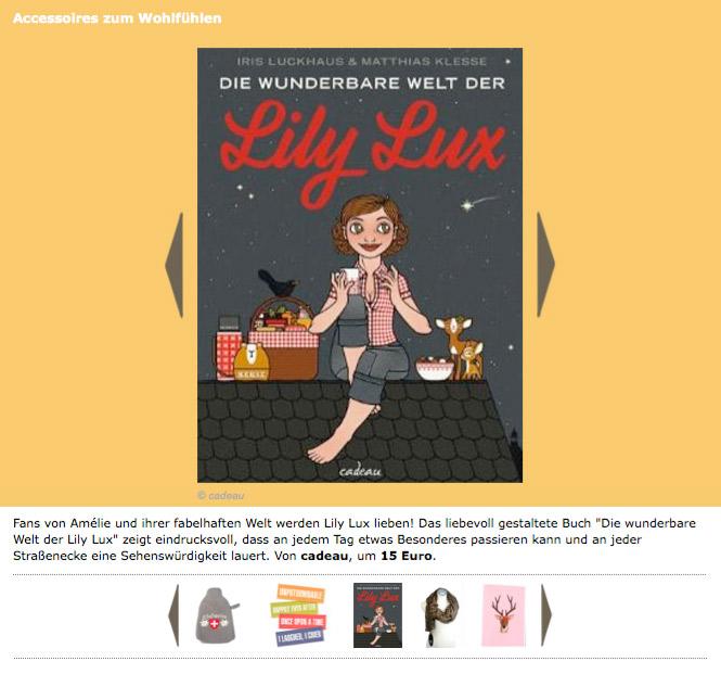 Die wunderbare Welt der Lily Lux als Wohlfühlaccessoire für den Winter in Brigitte Young Miss