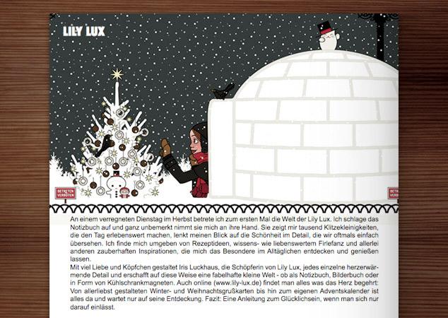 Lily Lux mit Iglu im ArtEmpire Magazin