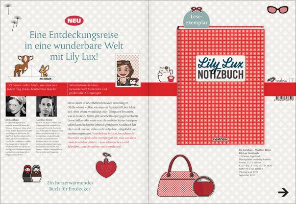 Lily Lux Notizbuch in der Verlagsvorschau von Cadeau bei Hoffmann & Campe